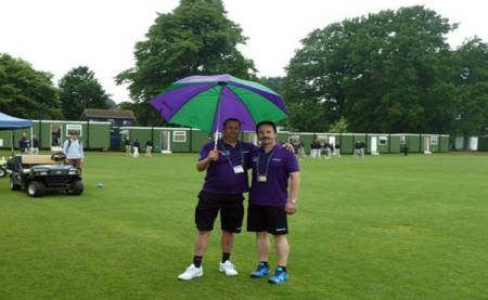 Rob Maessen and Vaclav Smat prepared for showers at Roehampton.